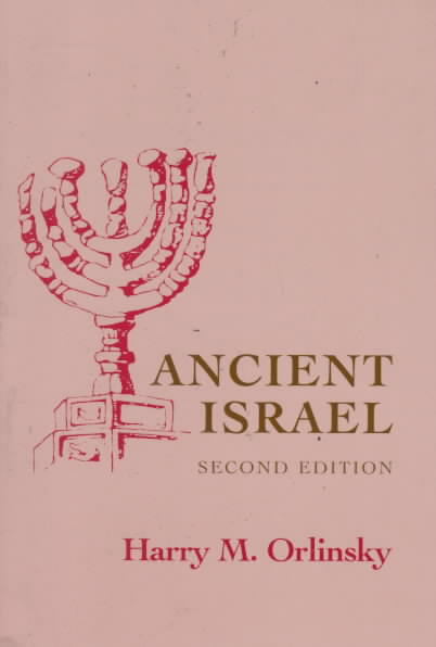 Ancient Israel By Orlinsky, Harry M.